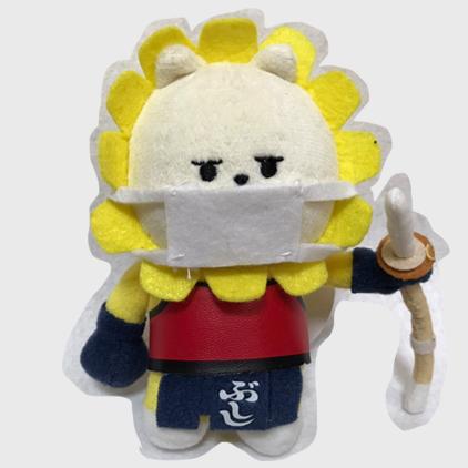 Mascotte de la coupe du monde de kendo avec un masque